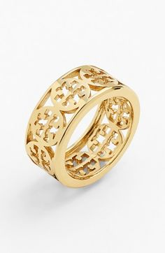 Tory Burch 'Kinsley' Logo Band Ring | Nordstrom