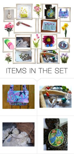 """""""Flower Power"""" by glassdreamshawaii ❤ liked on Polyvore featuring art"""