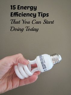 Did you know lighting accounts for of electricity use? Check out these 15 Energy Efficiency Tips You Can Start Doing Today from Energy Efficient Lighting, Energy Efficiency, Green Living Tips, Carbon Footprint, Go Green, Renewable Energy, Conservation, Scarlet, Choices