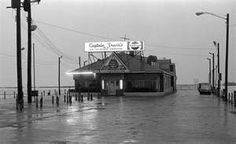 Before the Rock & Roll Hall of Fame there was Captain Frank's.  in this photo is Captain Frank's in the early morning on the East 9th Street Pier, Cleveland.