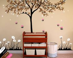 Nursery room wall decal with cute bees Wall stickers by StudioQuee