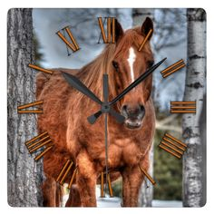 Red Dun Ranch Horse Animal-lover Photo Wall Clocks