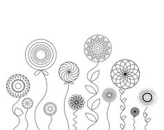 Blume-Malseite buchen Färbung Erwachsener Erwachsene von hedehede