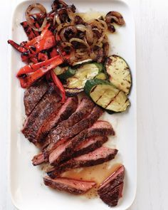 Grilled Steak and Vegetables (Recipe by Martha Stewart)