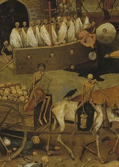 (Detail) The Triumph of Death (1562), oil on panel, 117 cm × 162 cm, Pieter Bruegel the Elder, Museo del Prado, Madrid
