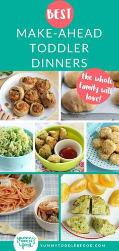 To make the days when you're super busy a little easier, here are 25 Make-Ahead Toddler Dinners that everyone at the table will enjoy. You can freeze most of these and can definitely store all of them in the fridge for a few days, so pick one or a few and Make Ahead Meals, Healthy Meals For Kids, Kids Meals, Family Meals, Kids Dinner Ideas Healthy, Dinner Healthy, Toddler Recipes Healthy, Healthy Foods, Quick Family Dinners