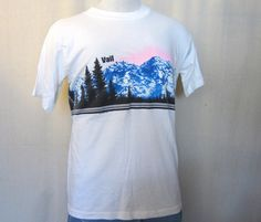 1986 VAIL COLORADO GRAPHIC Outdoors Nature Scenic