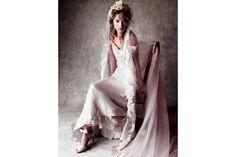 ALBERTA FERRETTI wedding dress and GIANVITO ROSSI shoes
