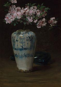 Pink Azalea—Chinese Vase William Merritt Chase