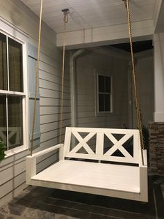 Swing Beds, Porch Swing, Wooden Rocking Chairs, Wooden Swings, Hanging Rope, Exterior Paint, Acre, Teak, Paint Colors