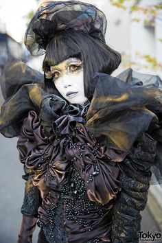 Minori on the street in Harajuku wearing a dark... | Tokyo Fashion