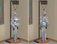 Sims 2 Object - Servo Charging Station Robot Factory, Sims 2 Hair, Free Sims, Modern Times, Paladin, Aliens, Objects, Home Appliances, Museum