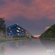 Neubau Büro direkt an Freiberger Mulde. 4Geschosse. Hochwassersicher. Energieefizient.