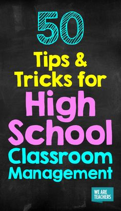 No longer kids, but not quite adults, teaching teens can be hard! These tips for high school classroom management will make your life easier! school science 50 Tips and Tricks for High School Classroom Management High School Biology, High School History, High School Science, High School Classes, Ela High School, High School Geometry, High School Tips, High School Health, High School Chemistry