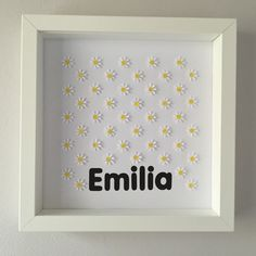 Image of Daisies - sq. Something Beautiful, Daisies, Framed Artwork, Names, Messages, Create, Floral, Flowers, How To Make