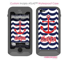 Mobile Phone Cases, Iphone Cases, Anchor Monogram, Samsung Galaxy S4 Cases, Bubble Gum, Navy Blue, Shop, Red, Etsy