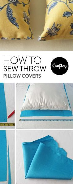 Learn how to sew your own throw pillows for  cheap, chic and handmade  home decor.