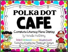 Polka Dots CAFE Literacy Menu  is 23 page FREEBIE containing a a menu banner, CAFE headers, and CAFE strategy cards for you to use when you teach a specific reading skill.C-ComprehensionA-AccuracyF-FluencyE-Expand VocabularyThis download can be printed and used for an interactive bulletin board for use during guided reading mini lessons and/or silent reading time.