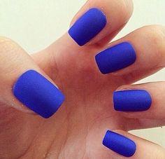 Gorgeous matte royal blue color