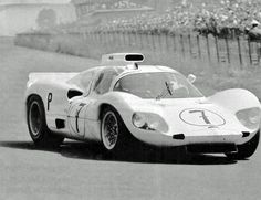 Chaparral 2D at Nurburgring, 1966. On its way to a win, with Jo Bonnier at the wheel. Few race cars of the era were as gorgeous as the 2D. R. W. Schlegelmilch photo.