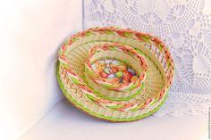 Кухня ручной работы. Ярмарка Мастеров - ручная работа. Купить Поднос плетеный Светлая Пасха. Handmade. Плетение из бумаги