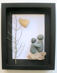 Unique Engagement Gift- Personalized Couple's Gift -  Pebble Art - on Etsy, $60.00 CAD