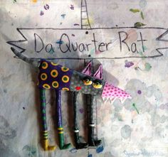 Small Quarter Rat Wall Art by jodieflowers on Etsy, $35.00