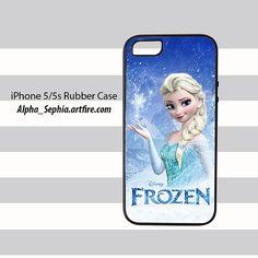 Queen Elsa Frozen iPhone 5 5s Rubber Case Cover