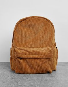 5645853378 Bershka Switzerland - Large corduroy backpack Vintage Backpacks