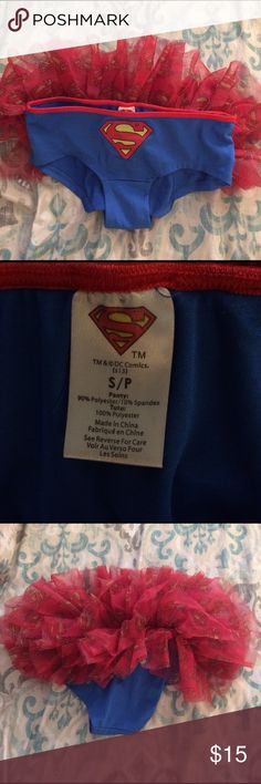 Superman half tutu bottoms🔴🔵 Never worn, they were too small for me🙈 in great condition practically new! Perfect for any superman costume! Could be worn with tights underneath :) Other