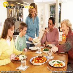 Aile ile birlikte yenen yemekler obeziteyi önleyebiliyor! www.medullavita.net/zayiflama