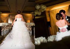 Katherine + Michael January Wedding First Look | Carter Rose Photography @f8studiowedding