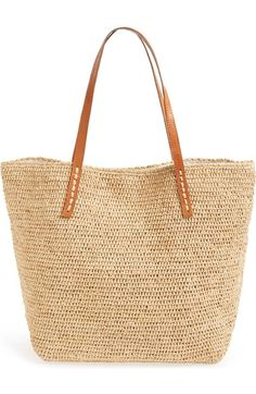 Mar y Sol 'Portland' Packable Raffia Tote available at #Nordstrom
