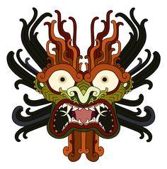 monarobot:      Aku, from samurai Jack Tattoo commission (recolored to better match the cartoon version)