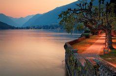 Italy - Lake Como: Pathway of Life by John & Tina Reid
