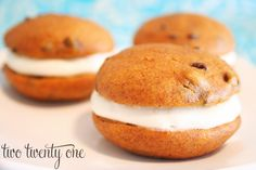 Pumpkin Chocolate Chip Whoopie Pies - Two Twenty One