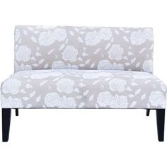 Amazon.com   Small Loveseat Sofa Chair Floral Upholstered Living Room Office  Dorm Ivory