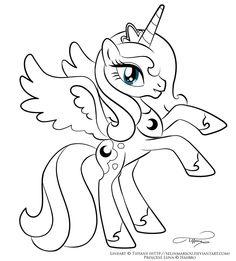 Lineart - Princess Luna by selinmarsou.deviantart.com on @DeviantArt