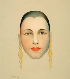 Self Portrait by Tarsila Do Amaral on Curiator, the world's biggest collaborative art collection. Blaise Cendrars, Tamara, Marianne, Art Archive, Collaborative Art, Art Graphique, Naive Art, Portrait Art, American Art