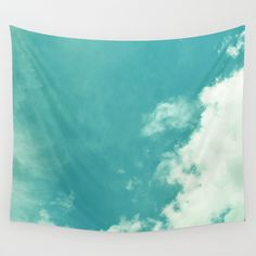 CLOUDY AND CLEAR Wall Tapestry