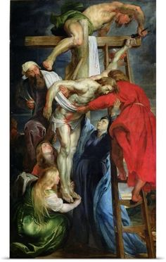 Peter Paul (1577-1640) Rubens Poster Print Wall Art Print entitled The Descent from the Cross, c.1614 15, None