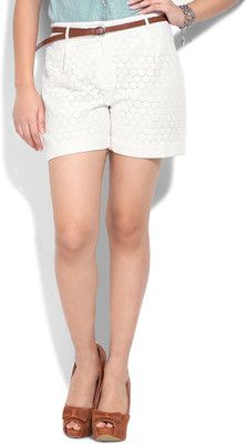 United Colors of Benetton Women Navy Blue Knee Length Shorts ...