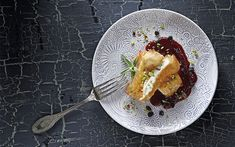 Feta wrapped in filo with Mavrodaphne sauce - Greece Is