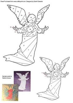 Christmas Angel Iris Folding Pattern on Craftsuprint designed by Sarah Edwards - An iris folding pattern of the silhouette of a Christmas angel.This pattern comes in two sizes to suit your crafting projects. One will fit on an A5 sized card and the other on an A6 card, but of course you can use them on different sized cards too! - Now available for download!