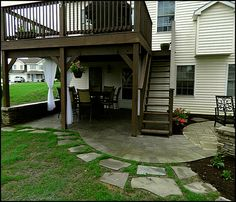 decks and patios ideas : how to dress up under deck patio ... - Patio Ideas Under Deck