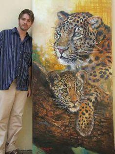 loepard art painting