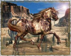 """Equus Fabulae - High-Stepping Varigated Unicorn"" by Donna Maria Waltz"