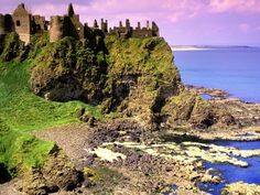 Dunluce Castle County Antrim Ireland - one of the most beautiful sites i've ever seen with quite the story about the McDonald family. Oh The Places You'll Go, Places To Travel, Places To Visit, Ireland Wallpaper, Wanderlust, Dream Vacations, Vacation Spots, Vacation List, Antrim Ireland