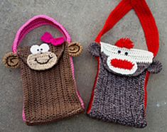 Lunch bag buddies #crochetpattern by @snappytots