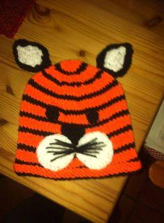 Mütze/Beanie - Tigermütze gestrickt